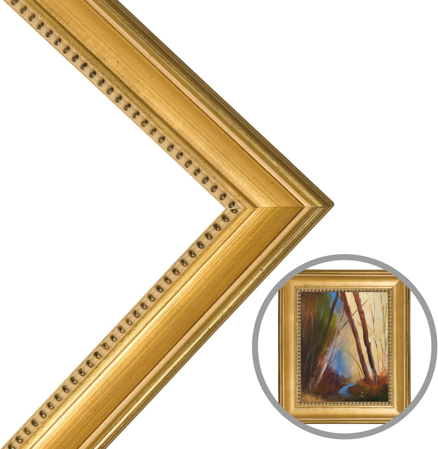 Classique 55 Gold Leaf Solid Wood Width Low price Made Ready 2