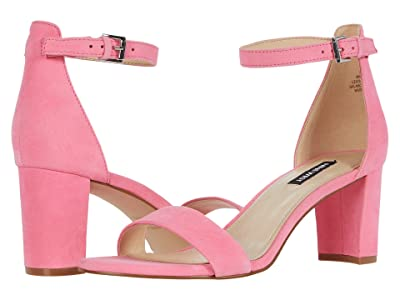 Nine West Pruce Block Heeled Sandal (Hot Pink) Women
