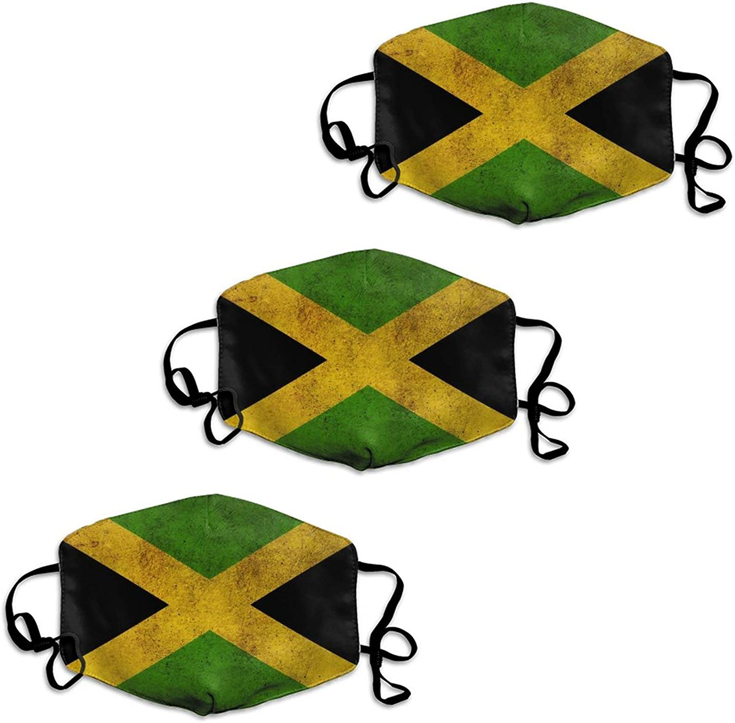 Vintage Jamaican Flag Cloth Face Mask Mouth Decor for Outdoors Home and Daily Use, Anti Dust Windproof Face Balaclava Nose/Mouth Coverings Face Scarf