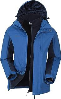 Mountain Warehouse Thunderstorm Uomo Giacca 3 in 1 - Traspirante Che Tutte Le Stagione Cappotto, Cappotto di Pioggia Imper...