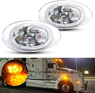 Driver side WITH install kit LED 2008 Freightliner FLD SD MID-ROOF Side Roof mount spotlight 6 inch -Black