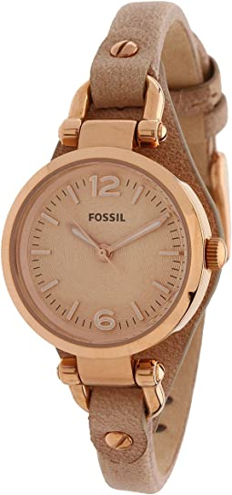 Fossil - ES3262 Georgia Mini Three Hand Leather Watch