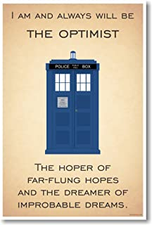 PosterEnvy Doctor Who - Tardis - I Am and Always Will Be The Optimist - New Quote Poster