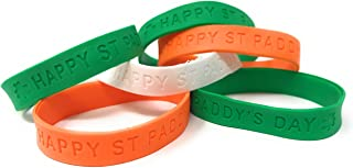 48 Bulk St Patrick's Day Party Bracelet Bands or Decorations - Assorted Colors from The Irish Flag