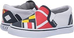 Red/Navy/Yellow/White Sail Print/White Canvas