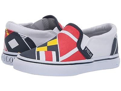 Polo Ralph Lauren Kids Landyn (Toddler) (Red/Navy/Yellow/White Sail Print/White Canvas) Boy