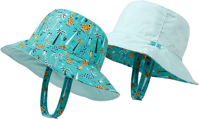 Baby Boy Sun Hats Toddler Girl Summer Caps Kids Reversible Bucket Hat with UPF 50+ Sun Protection Cap