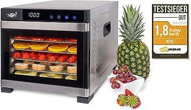 Deshydrateur Alimentaire Inox VITA5 • Déshydrateur Alimentaire 6 Plateaux • Desydratateur avec Minuteur (24H) • Deshydrate...