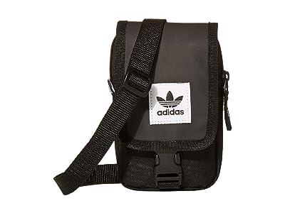 adidas Adi Map Bag Crossbody (Black) Cross Body Handbags