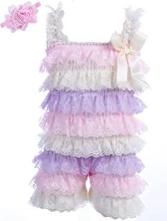Kcsllca Baby Girls Lace Romper