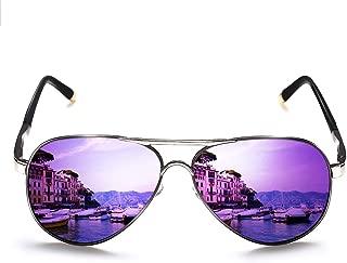 Polarized Aviator Sunglasses for Men Women Metal Flat Top Sunglasses lightweight Driving UV400 Outdoor 58mm