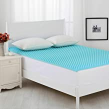 Dreamaker Cool Gel Infused Memory Foam Mattress Topper | Convoluted Underlay Egg Crate Design | Mat Pad 5 cm Thick | 6 Siz...