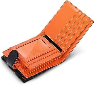 wilbest® Billetera de Hombre de Piel, Cartera RFID, Carteras Hombre con Monedero - Bloque 13.56 MHz, Cartera Personalizada...