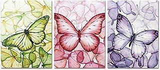 Kinderkamer Muur Decor 3 Panelen Canvas Schilderij Kleurrijke Vlinder Poster Print Abstracte Cartoon Art Foto voor Woondec...