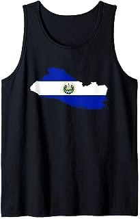 El Salvador Flag El Salvador Map Design Salvadoran Heritage Tank Top