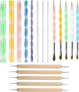 18PCS Mandala Dotting Tools Set Embossing Stylus Large Dotting Rods for Painting Rocks Nail Art