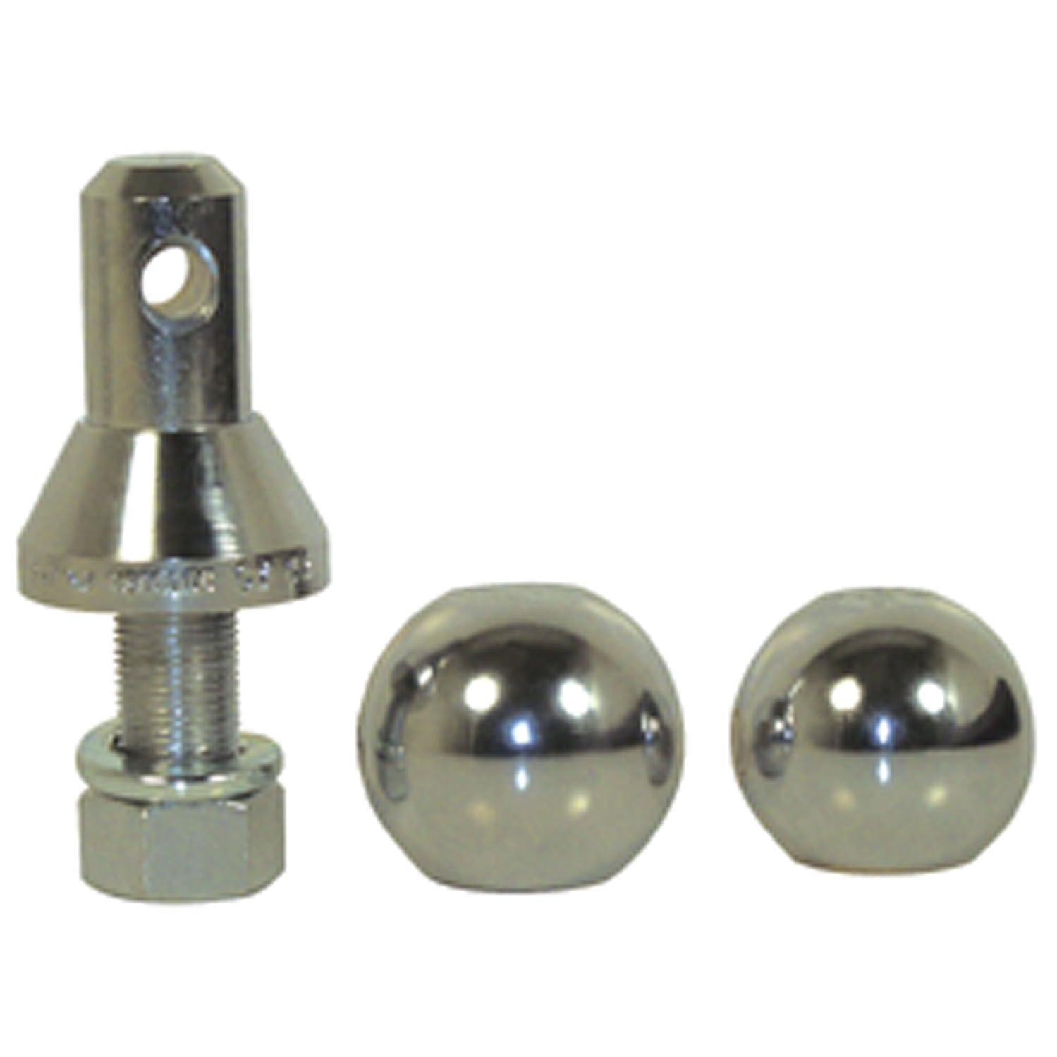Convert-A-Ball 800B Nickel-Plated Shank with 2 Balls - 3/4