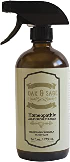 Oak & Sage Homeopathic All-Purpose Cleaner - 16oz - Family Safe & Healthy, Chemical Free, Essential Oil Based, All Natural - Perfect for all Household and Indoor Cleaning