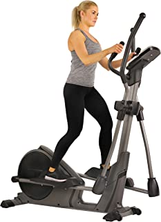 Sunny Health & Fitness Magnetic Elliptical Trainer Machine w/Tablet Holder, Programmable Monitor and Heart Rate Monitoring, 330 LB Max Weight - SF-E3912