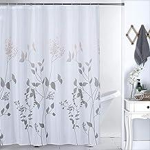 Shower Curtain Grey Polyester Fabric Bathroom Curtain Waterproof Shower Curtains ,72 X 72 INCH (Grey)