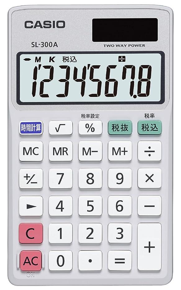 説明的シングル余暇カシオ手帳型電卓 SL-300A-N