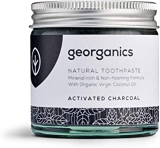 Georganics   Natural + Organic Mineral-Rich Whitening Toothpaste, Fluoride + SLS Free (Activated Charcoal, 60ml)