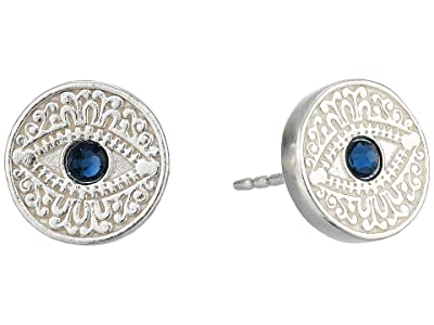 Alex and Ani Evil Eye Post Earrings (Sterling Silver) Earring