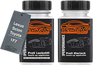TRISTARcolor Autolack Lackstift Set für Lexus/Scion/Toyota 1F7 Platinsilber Metallic Basislack Klarlack je 50ml