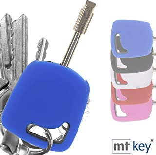 Auto Schlüssel Hülle Blau Kompatibel mit Ford Fiesta Focus Transit KA Escort Mondeo Tourneo
