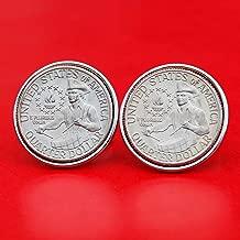 US 1776 ~ 1976 Bicentennial Design Washington Quarter Dollar Gem BU Uncirculated Special Mint Set Coin Cufflinks NEW - Drummer Boy Reverse