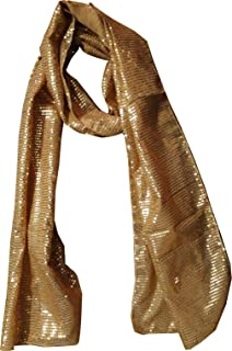 KVR Fashion Party Dance Vintage Sparkle Long girl teen Sequin polyester net scarf headband cum waist belt