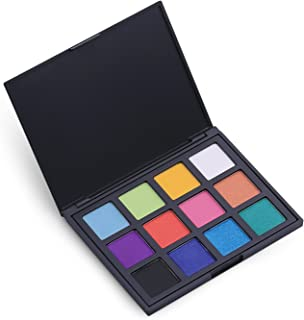 Allwon 12 Colors Eyeshadow Palette Matte Shimmer Palette Bold and Bright Collection Rainbow Colors Eye Shadow, 0.67 Ounce
