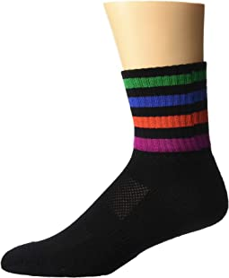 Short Stripe Welt Socks