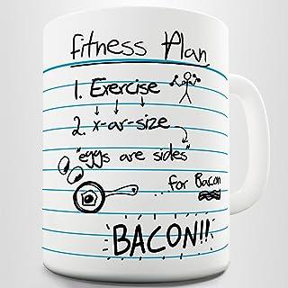 TWISTED ENVY Funny Fitness Plan Ceramic Mug