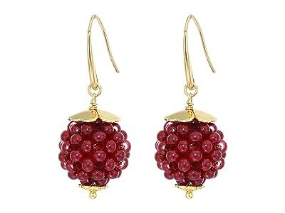 Kate Spade New York Very Berry Drop Earrings (Burgundy) Earring