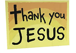Memory Cross Christian Yard Sign - Thank You Jesus - 18x24 With Stake