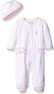 Little Me Baby-girls Newborn Prima Ballerina Footie and Hat, White/Pink, Preemie