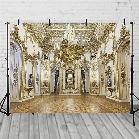 6x4ft Ancient Palace Backdrop Vinyl Magnificent Decoration Photography Background Indoor Decors Wallpaper Wedding Photo Backdrop Video Studio Photo Props