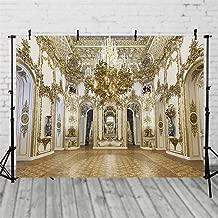 ML Photo Backdrop 7x5 Gold Palace Crystal Chandelier Wedding Photography Backgrounds Indoor Scenic Photo Studio Backdrops