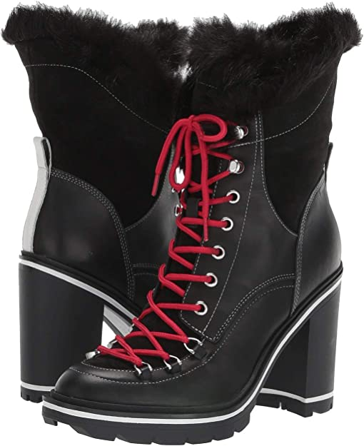 Black Leather/Faux Fur