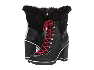 Sigerson Morrison Odelia (Black Leather/Faux Fur) Women