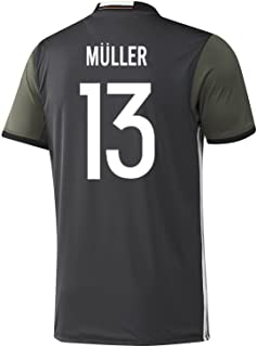 adidas Muller #13 Germany Away Soccer Jersey Euro 2016 Youth