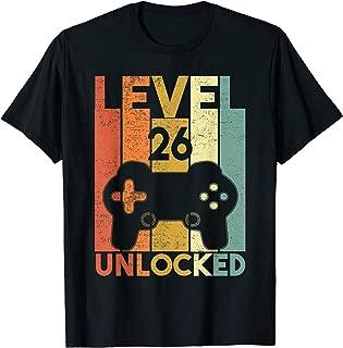 Level 26 Unlocked Shirt Funny Video Gamer 26th Birthday Gift