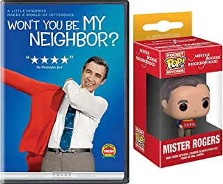 "Neighborhood Pop Mr. Rogers ""Won't You Be My Neighbor"" DVD + Fred Funko Keychain Figure Pocket Pop - Creative 2 Pack"