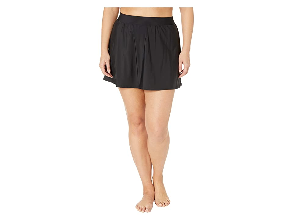Miraclesuit Plus Size Skirted Pant (Black) Women