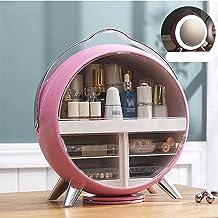 Kosmetyczne obudowy makijażu Organizator, uchwyt do przechowywania kosmetycznego uchwyt z lustrem LED i przenośnym uchwyte...