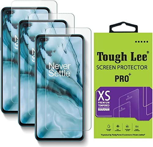 Tough Lee Tempered Glass Screen Guard For Oneplus Nord Transparent Full Screen Coverage Except Edges With Easy Installation Kit Pack Of 3