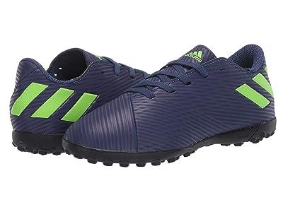 adidas Kids Nemeziz Messi 19.4 TF Soccer (Little Kid/Big Kid) (Tech Indigo/Signal Green/Glory Purple) Kid