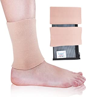 CRS Cross Ankle Gel Sleeves - Padded Skate Sock Ankle Protection (Figure Skating, Hockey, Roller, Inline, Riding, ski or Equestrian Tall Boots)