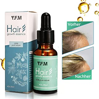 Hair Growth Serum, Y.F.M Herbal Hair Growth Essence - Hair Loss Prevention Treatment For Men & Women With Thinning Hair - Stimulate Hair Follicles, Strengthens Hair Roots and Help Regrow Hair - 20ml
